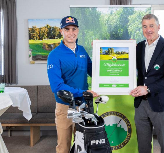 """PK SalzburgerLand """"Top Golfer Matthias Schwab wird Botschafter für das SalzburgerLand"""" Foto: Neumayr/Leo 07.04.2021"""